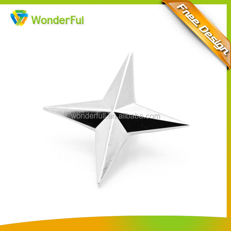 2014wholesale Star Decoration Custom Fashional Star Lapel Pin Badge Butterfly