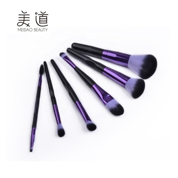 China Manufacture Foundation Powder Concealer Eye Shadow Purple Makeup Brushes