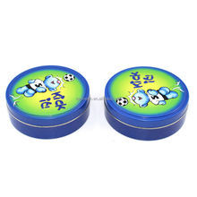 High quality beautiful small round candle tin case