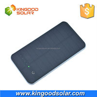 With intelligent touch button and big panel portable 12000mah solar powerbank for mobile phones