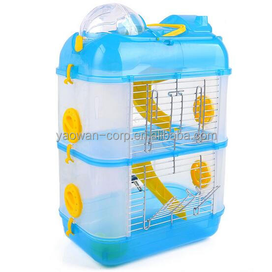 2016 hot selling 2 layers acrylic hamster cage hamster house pet cage