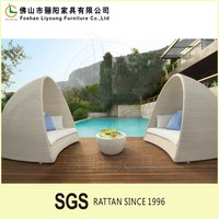 Outdoor lounge chair with canopy rattan wicker daybed beach lounge chair garden furniture round rattan outdoor daybed