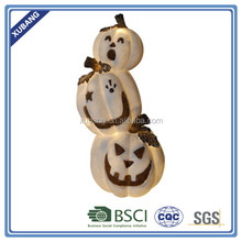 Hot selling MOQ funny SANDSTONE pumpkin shape LED lights for Halloween