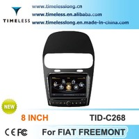 S100 Car Radio For Fiat Freemont with GPS A8 Chipset 3 zone POP 3G/wifi BT 20 dics playing
