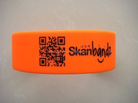 China supplier custom silicone QR code bracelet