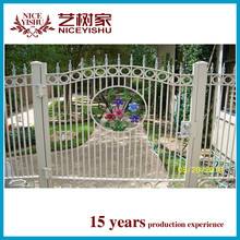 decorative cheap new main gate and fence wall designs / New philippines luxury latest aluminum fencing for garden homes villa