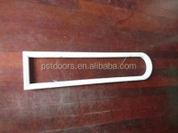 White Color Glass Frame for American Steel Door