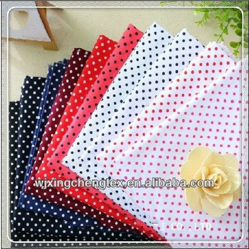 Super Soft Polka Dot Printed Cotton Poplin Fabric