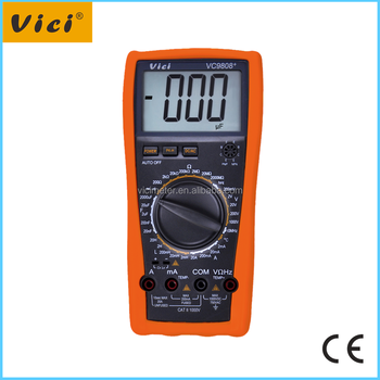 VC9808+ 1999 counts 10MHz 2000uF digital multimeter with temperature test