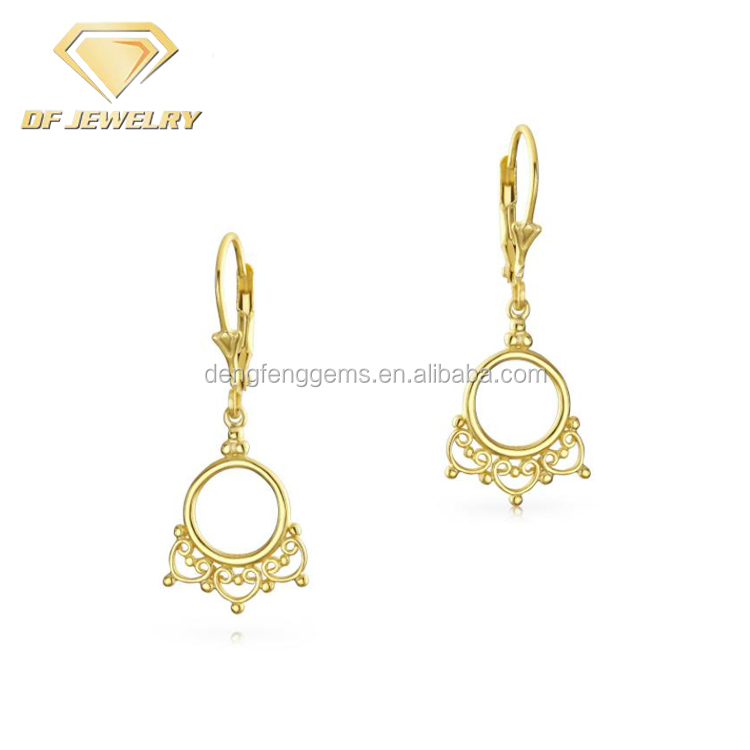 Gold Plated Silver Earrings Indian Jewelry Earrings