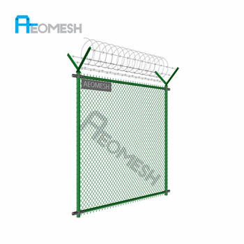 Cyclone wire fence philippines with pvc coated