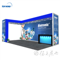 Detian Offer special exhibition booth design trade show display aluminum square tube