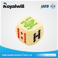 2016 Good Quality Colored Custom Round Corner Engraved Game Dice