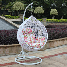 Good quality PE rattan wicker garden furniture outdoor swing chair hanging egg chair in Foshan