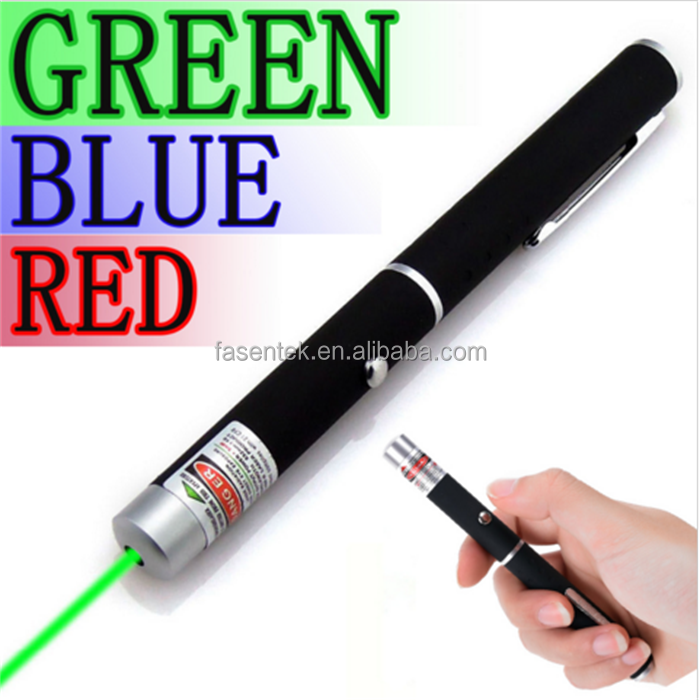 High Quality Powerful Green/Red /Blue Laser Pointer Pen Beam Light 5mw