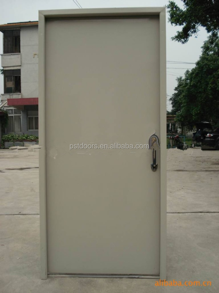 Used Metal Doors : Full flush steel door commercial flat