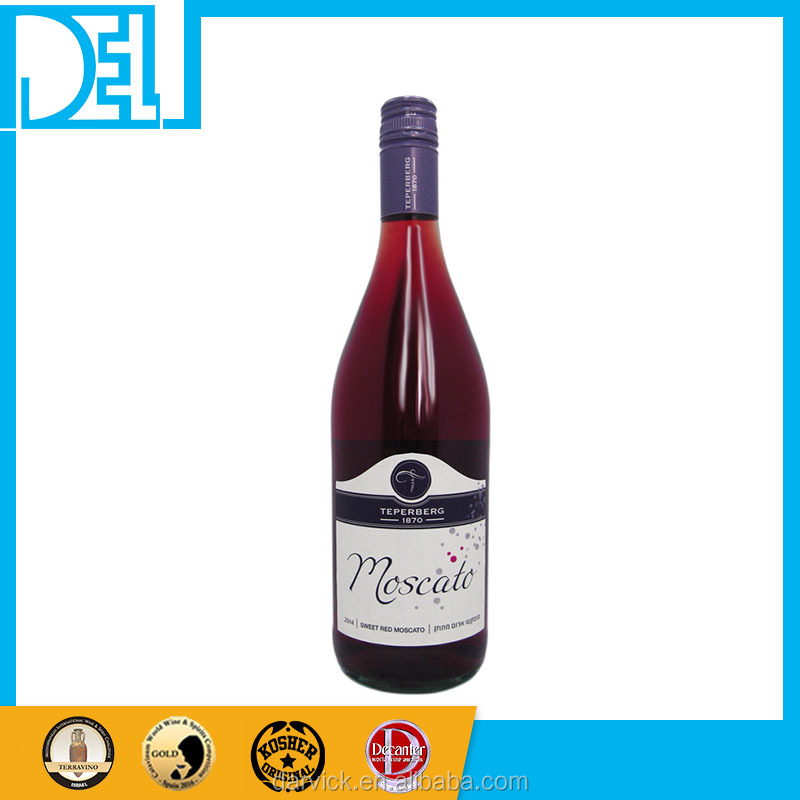 Israel Kosher Original Sparkling Tasty Teperberg Moscato Red WIne for party