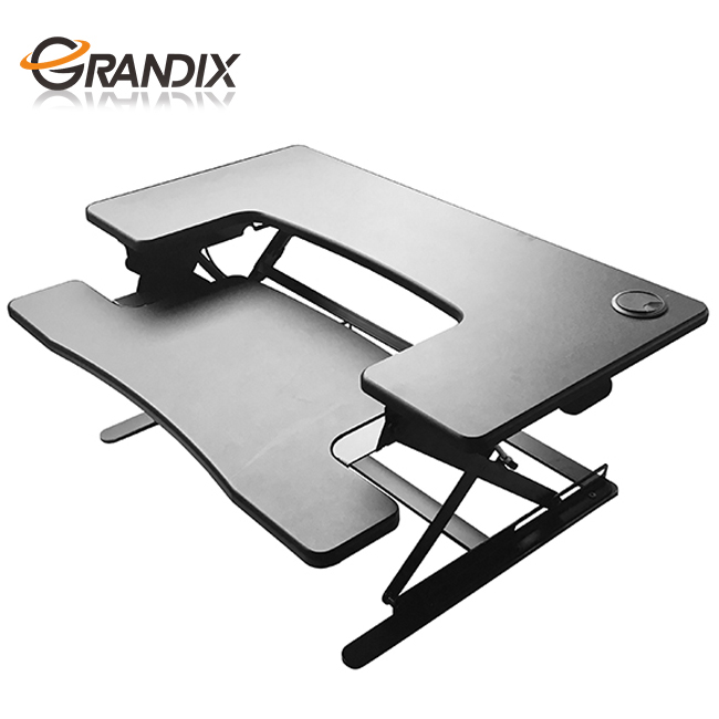 Office Table Using Height Adjustable laptop stand standing workstation computer desk