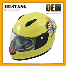 New Arrival Full Face Kids Abs Plastic Motorcycle Helmet