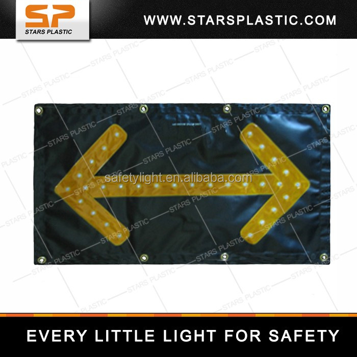 LED direction sign, portable traffic signal, direction indicator with magnet