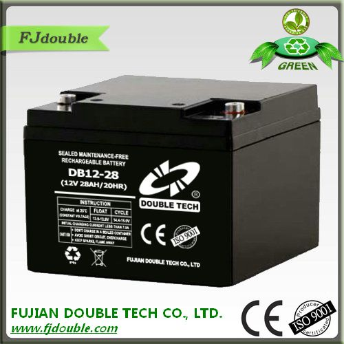 Dry cell 24V rechargeable battery 28AH for emergency light