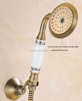 Classical antique brass &ceramic telephone shower head , water saving handle shower ,spary spout for bathroom accessories