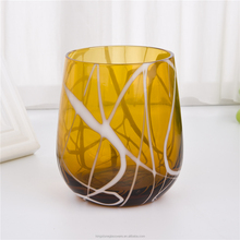 wholesale amberr wine glass drinkware home decorated glassware