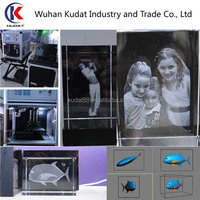 3D Laser Subsurface Engraving Machine 3d laser engraved crystal cube machine for crystal 3D face image