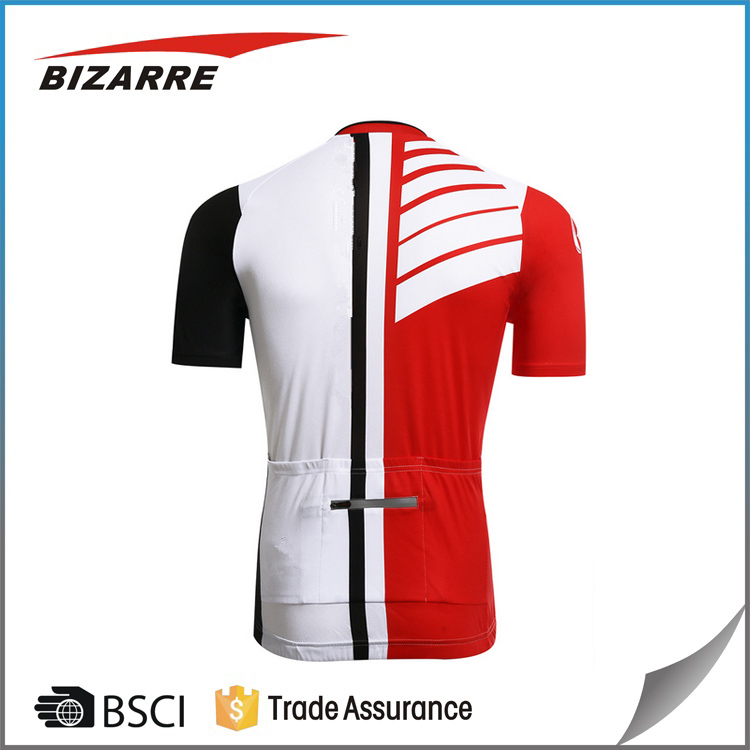 Men's custome breathable mountain bike jersey short sleeve