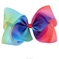 Hot Sales 7 Inch Boutique Rainbow Bows For Girls With Clips BH1435-X