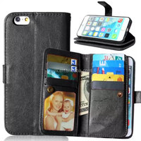 For iPhone 6S & 6S Plus Genuine Leather Wallet funky mobile phone case