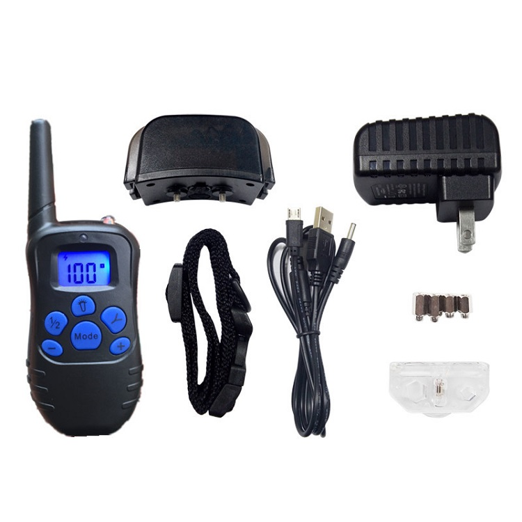 300M waterproof rechargeable 998DR remote dog training collar,No Bark Collar Bark Control Collar