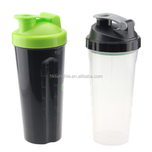 Protein shaker/Hot Sell 600ml BAP Free custom logo Plastic Blender Shaker Bottle