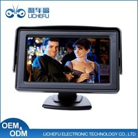Stand Alone HD 5 inch Touch Screen Led Car Monitor with 2 Video Input