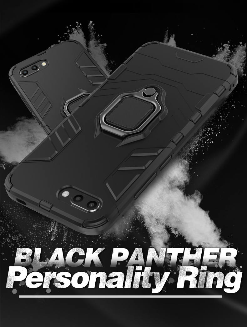 Hybrid TPU PC Metal ring holder shockproof cover hard case for huawei honor v20 case, ring armor case for honor v20