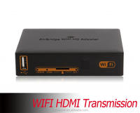 Multiple Languages Long range HD Wireless WIFI HDMI Transmitter Transmission to the TV / Projector SD Card USB flash Supported