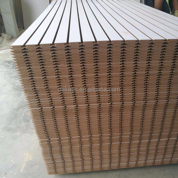 Melamine paper laminated Slotted mdf board/slotwall panel