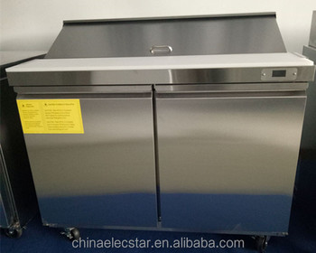commercial kitchen equipment restaurant stainless steel pizza table refrigerator fridge