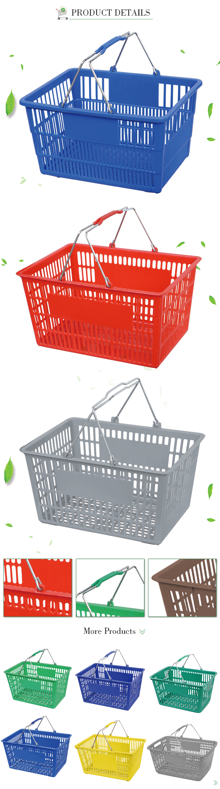 All New Material Two Handle Plastic Storage handle plastic basket Cheap