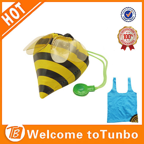 Alibaba china bee shape animal bags cheap folding shopping bag design