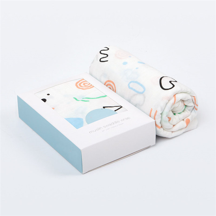Gift box for baby swaddle blanket wholesale bamboo baby muslin swaddle blanket