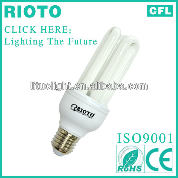 Standard E27 3U 20W Compact fluorescent lamp/energy saving light bulb made in China