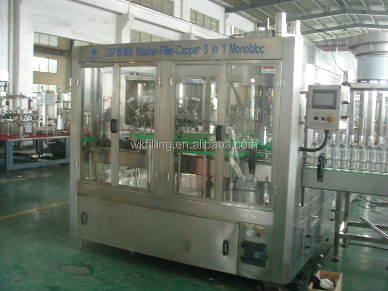 Small glass bottle wine/vodka/whisky packing machine