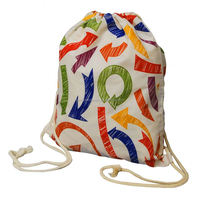 Promo cotton drawstring bag with tab closure