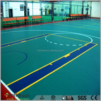 Durable anti-slip pvc basketball court used vinyl flooring rolls
