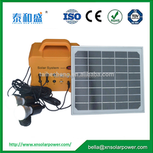 Portable Compact Solar System 10 Watt Monocrystalline Solar Panel for emergency lighting
