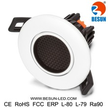 New arrival low ugr downlight 7watt glare free adjustable downlights led white
