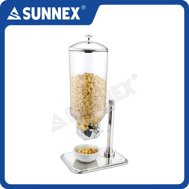 SUNNEX Professional 7Ltr. Single Transparent Container with silicone paddle Hotel & Catering Cereal Dispenser