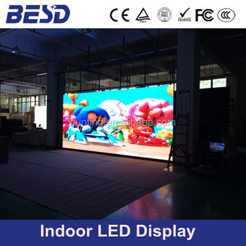 Indoor P10 LED curtain screen