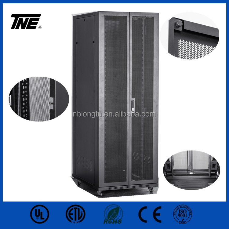 22U 32U 37U 42U communication equipment cabinet server rack with vertical cable organizer